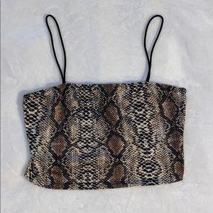 SHEIN Snake Skin Tank Top
